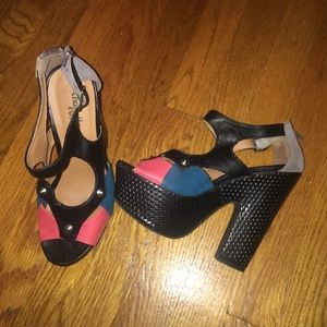 Charlotte Russe Shoes - Color block heels